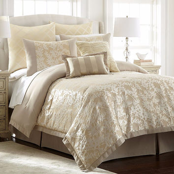 Jacquard Comforter Set Karan King 8Piece