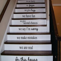 In This House Stairs Version 2 Decor Decal Sticker Wall Vinyl Art