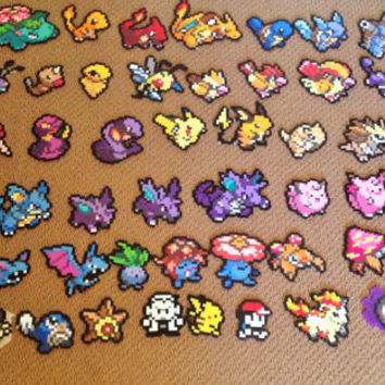 Small Custom Pokemon Perler Sprites
