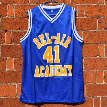 Bel Air Academy #41 Will Smith Basketball Jersey