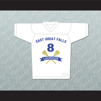 "Chris ""Oz"" Ostreicher 8 East Great Falls Lacrosse Jersey Stitch Sewn"