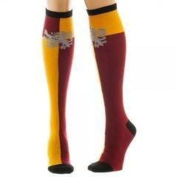 Harry potter gryffindor juniors knee high socks