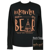 Girlie Girl Originals Preppy Mama Bear Teepee Long Sleeve T-Shirt