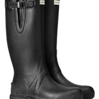 HUNTER MEN BALMORAL ADJUSTABLE EQUESTRIAN BLACK WELLINGTON BOOTS NIB