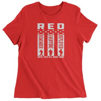 RED Remember Everyone Deployed Womens T-shirt