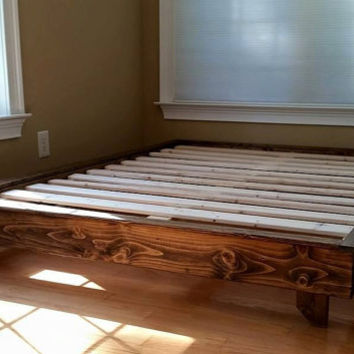 Platform Bed, Low Profile Bed, Ava Solid Wood Bed, Bed Frame, Custom Bed, Guest Bed, Free Shipping
