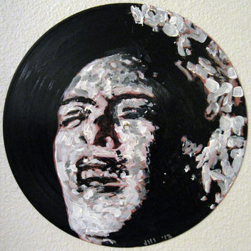 Upcycled Recycled Records Art - Great Gift Idea - Billie Holiday Lady Day - Original Unique Handpainted Art on Vinyl Record
