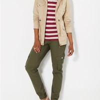 Gusseted Twill Cargo Jogger