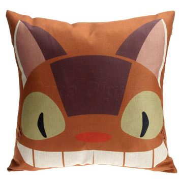 Totoro Neko Bus Pillow Case