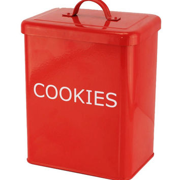 RED KITCHEN CANISTER - COOKIES
