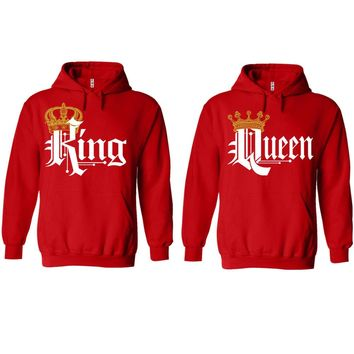 Royal King and Queen Red Hoodie