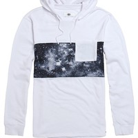 On The Byas White Cosmic Hooded Shirt - Mens Shirt - White