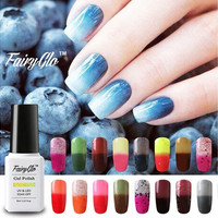 New Fashion FairyGlo Amazingly Thermal Color-Changing Gel Polish 8ml Christmas Gift 002 [9303681930]