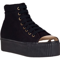 Jeffrey Campbell Hiya-Cap Platform Sneaker Black Fabric - Jildor Shoes, Since 1949