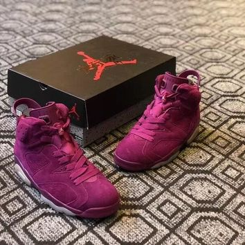 Air Jordan 6 Custom ¡°Wine Red¡± Men Basketball Shoes Sneaker