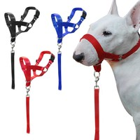 Nylon Dogs Head Collar Dog Training Halter Blue Red Black  Colors M L XL XXL Sizes