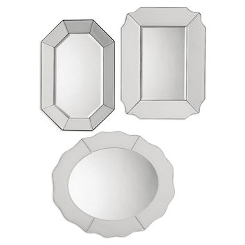 Bianco Accent Mirrors, Set of 3, Wall Mirrors