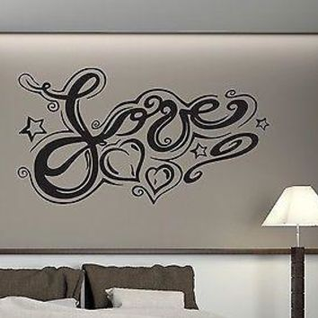 Wall Stickers Vinyl abstract image romantic symbol of the word love Unique Gift (n282)