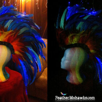 Light it up! Fiber optic ADD ON pack for feather mohawk or headdress