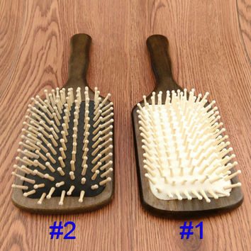 Wooden Combs Paddle Brush Wooden Hair Care Spa Massage Antistatic Comb For Women