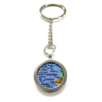 Germany Map Pendant Keychain