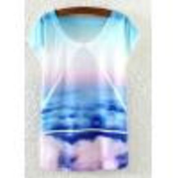 Vintage Summer Womens Short Sleeve T-Shirt fashion