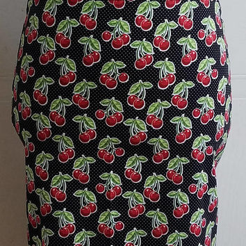 High - waist - cherry - polka - dot - pinup - rockabilly - rockabella - pencil - skirt - wiggle - skirt