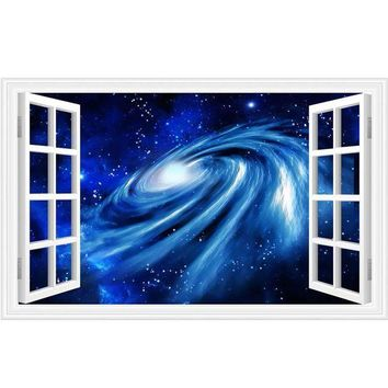 CUPUPO2 3D wall stickers home decor Star Space Home Decor Art Fake Window Removable Stickers