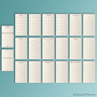 Thanksgiving Planner Filofax Personal Inserts Menu Plan November Calendar Holiday Printable Thanksgiving Dinner Checklist Instant Download
