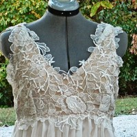 Super Elegant Vintage Style Wedding Dress by sash by SashCouture1