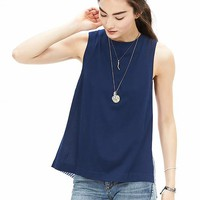 Banana Republic Womens Poplin Back Tank
