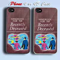 Beetlejuice Handbook for the Recently Deceased Custom iPhone 4 or 4S Case Cover