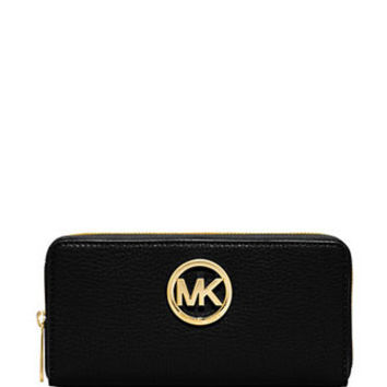 Michael Michael Kors Leather Fulton Continental Wallet