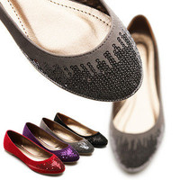 NEW Womens Shoes Ballet Flats Loafers Faux Suede Multi Colored