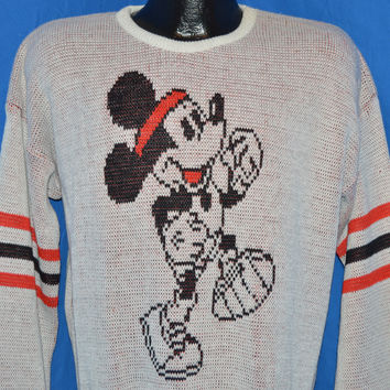 80s Mickey Mouse Disney Running Cliff Engle Sweater Large