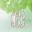 Gorgeous Monogram customized necklace--1.5 inch nameplate necklace--rose gold plated bride jewelry