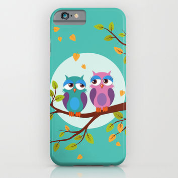 Sleepy owls in love iPhone & iPod Case by EDrawings38
