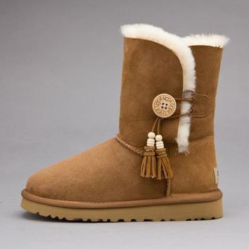 UGG Fashion Women Fur Wool Snow Boots In Tube Boots Shoes-2