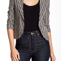 Print Notch Collar Jacket
