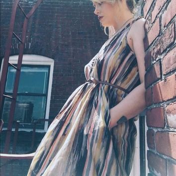 Urban Outfitters Abstract Flowy Dress