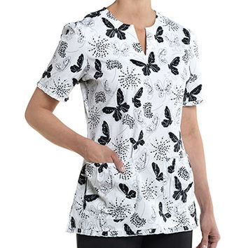 Nurse Mates Women's Sadie Baby Doll Print Top