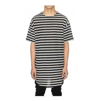 new summer style mens unisex t shirts top tees hip hop hip-hop swag striped  t-shirt kanye west clothes clothing streetwear