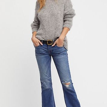 Slouchy Flood Flare Jeans