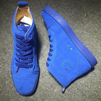 Christian Louboutin CL Suede Style #2239 Sneakers Fashion Shoes Best Deal Online