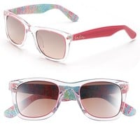Women's Lilly Pulitzer 'Gabby' 49mm Retro Sunglasses - Crystal/
