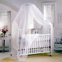 Baby Canopy/Mosquito Net for Cot kids Baby Bed Four Poster Crib Netting Hanging Dom Round top mosquito net portable mosquito net