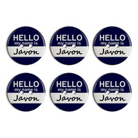 Javon Hello My Name Is Plastic Resin Button Set of 6