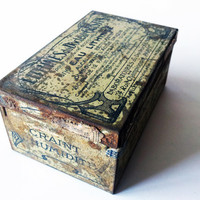 TIN BOX Antique  french giftbox/ / MEDICAL by PetitesChosesDeLaVie