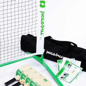 Taiwan Diller Set - Portable Net System/Four Wood Paddles/Balls