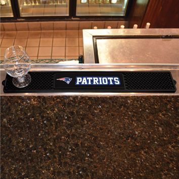 "New England Patriots 3.25"" x 24"" Bar Drink Mat - Man Cave, Bar, Game Room"